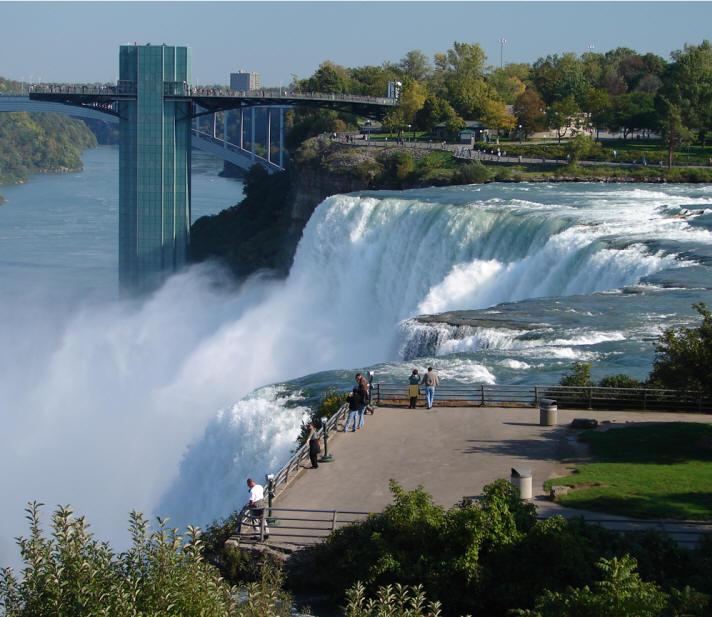 Goat Island In Niagara Falls New York