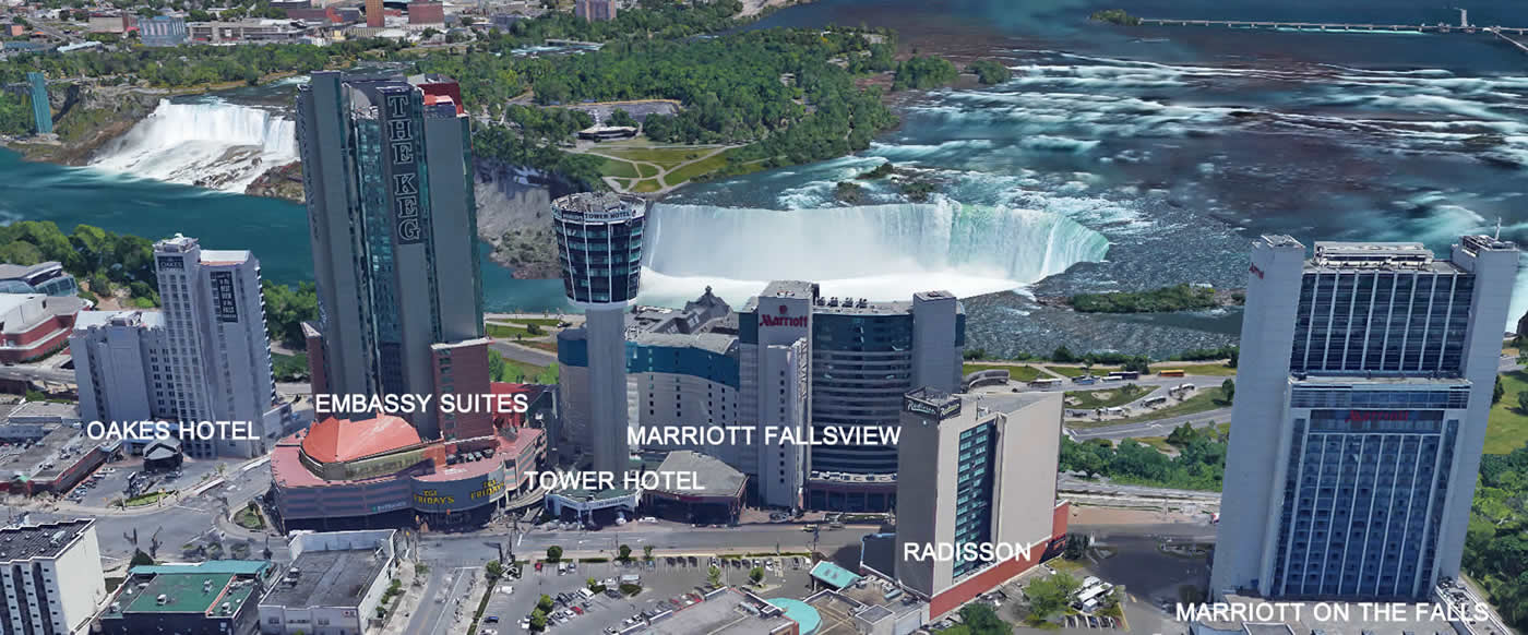 Map Of Niagara Falls Canada Hotels Niagara Falls Fallsview Hotels 2020