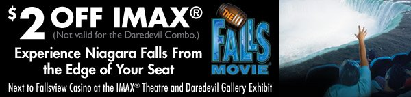 imax niagara falls discount coupon
