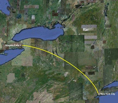 Niagara falls travel tips a new york city is 406 miles or 653 kilometers from niagara falls publicscrutiny Choice Image