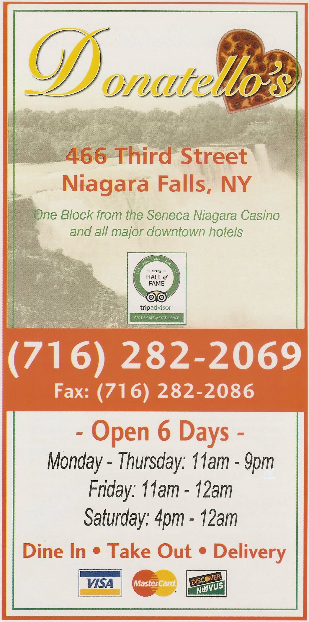 Niagara falls coupons restaurants