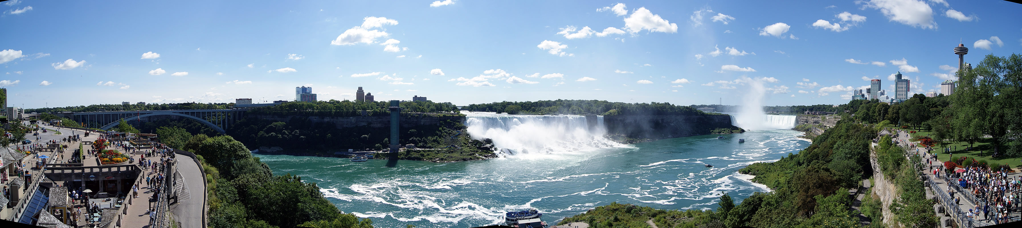 Niagara Falls Summer Panorama Photo