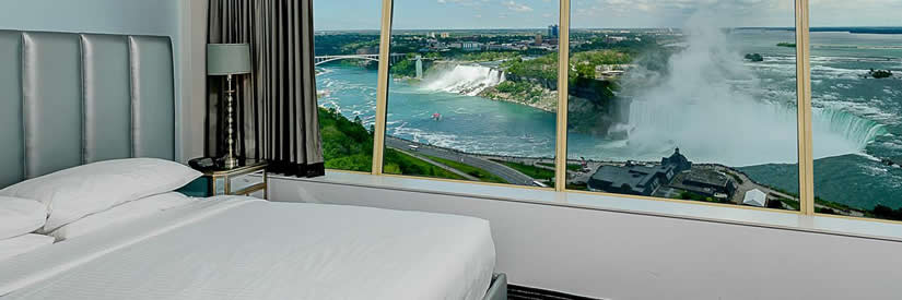 The Tower Hotel In Niagara Falls Canada Is Most Unique World Floor To Ceiling Windows With Stunning Panoramic Views Of And