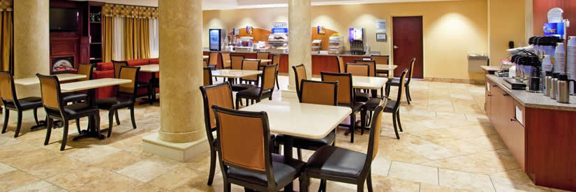 holiday inn express lobby dining