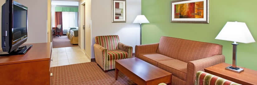 holiday inn express lobby room