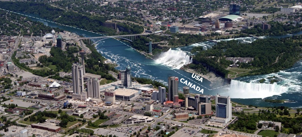 Location of Niagara Falls hotels