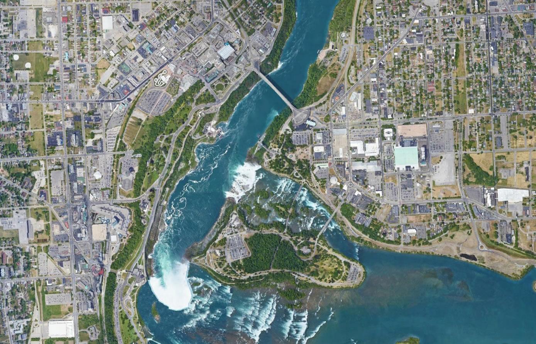 Niagara Falls Us Side Map Niagara Falls Hotel Map